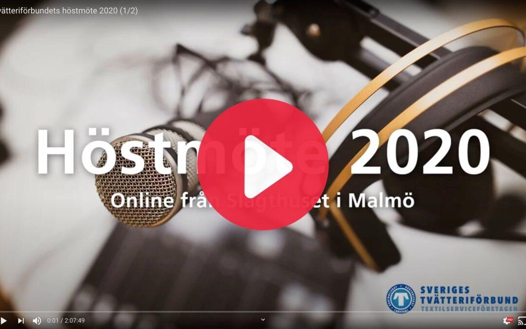 Se inspelningen från Höstmöte 2020
